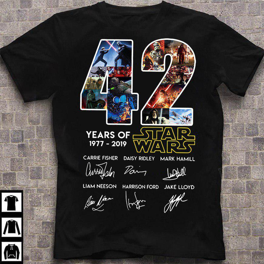 42 years of 1977 -2019 Star Wars Shirt