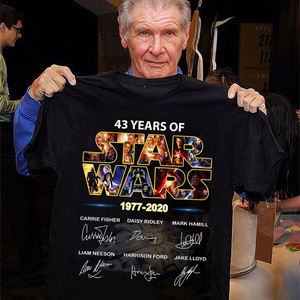 43 years of star wars 1977-2020 signatures Shirt