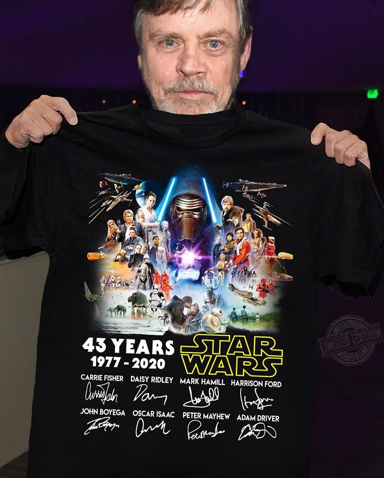 43 years star wars signature Shirt