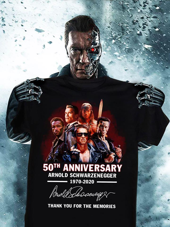 50th anniversary arnold schwarzenegger thank you for the memories Shirt