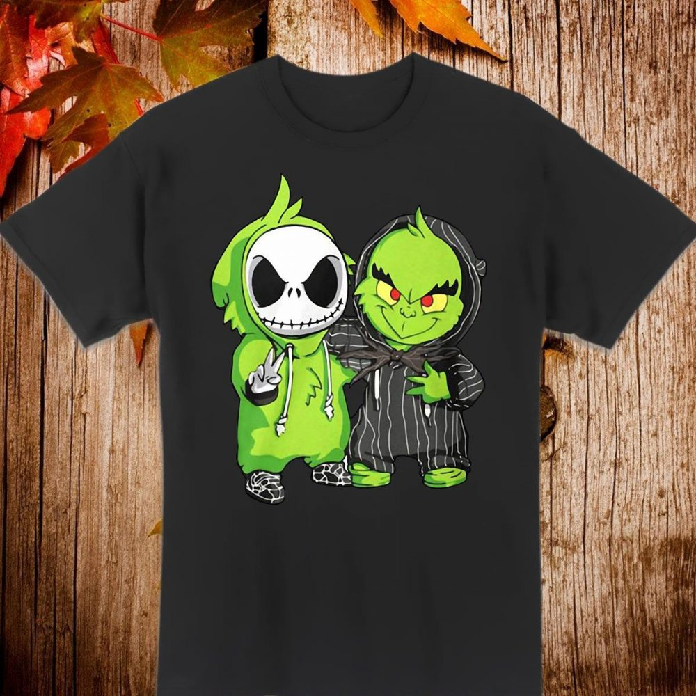 Baby Jack Skellington and Grinch Shirt