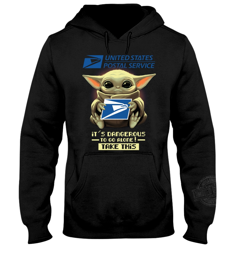 Baby Yoda united states postal service it's dangerous to go alone take this Shirt