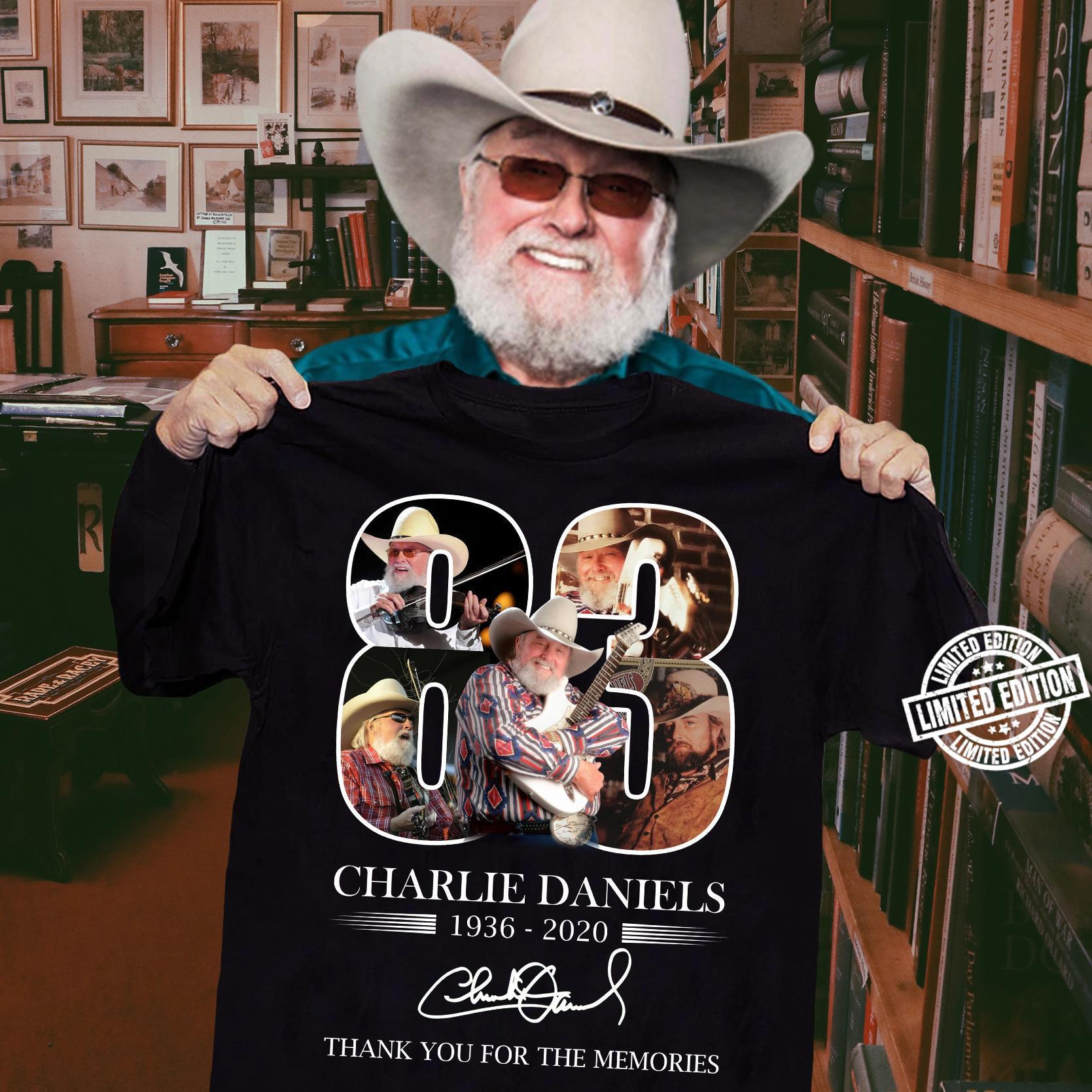 Charlie daniels 1936-2020 thank you for the memories shirt