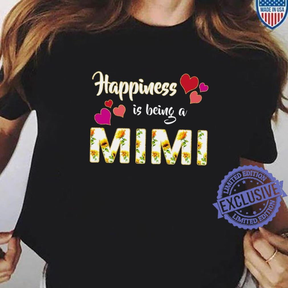 Happiness is being a mimi shirt ladies tee