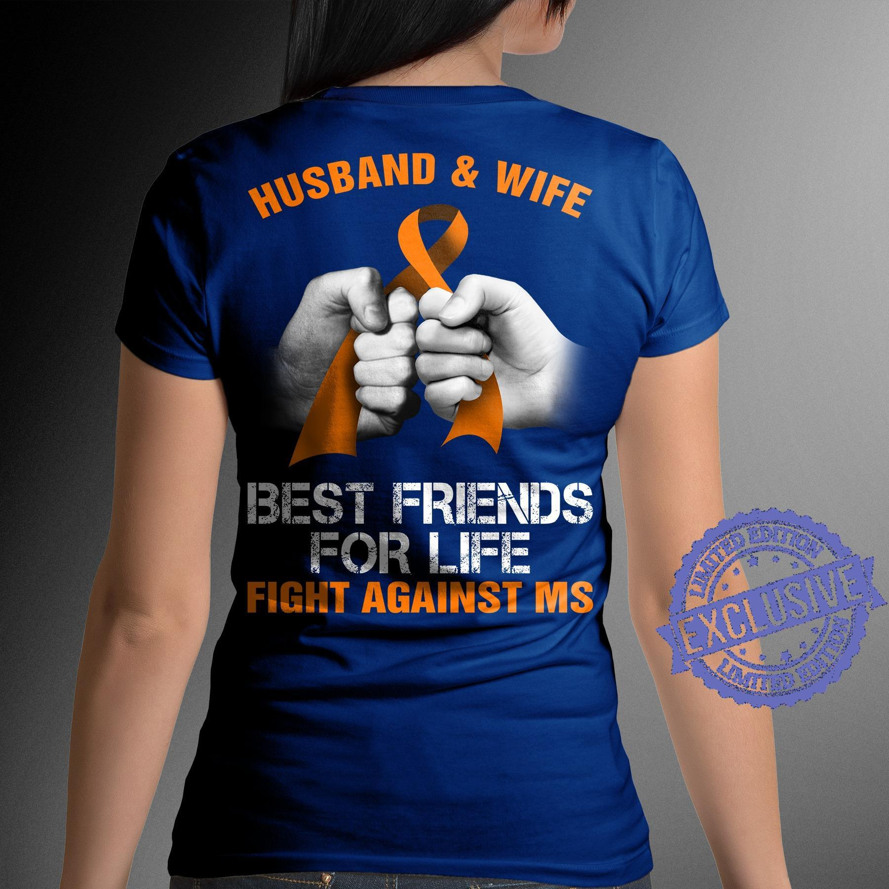 Husband and wife best friends for life fight against shirt