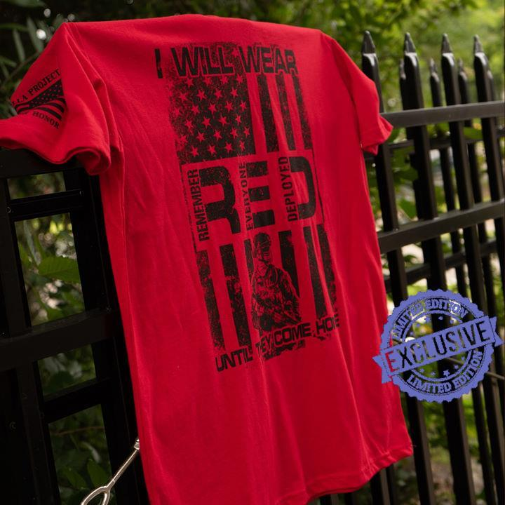 I will wear red until shirt
