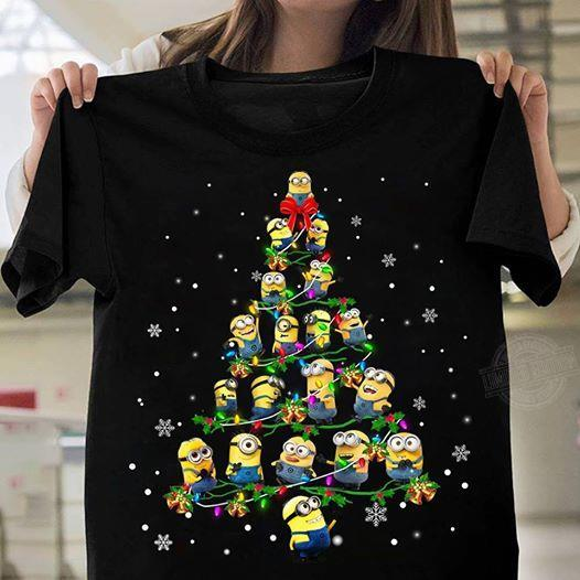 Minions tree christmas Shirt