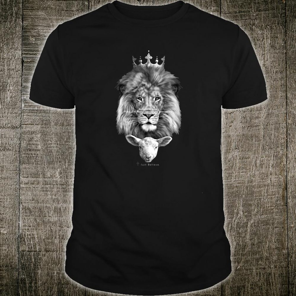 The lion and the lamb Christian shirt