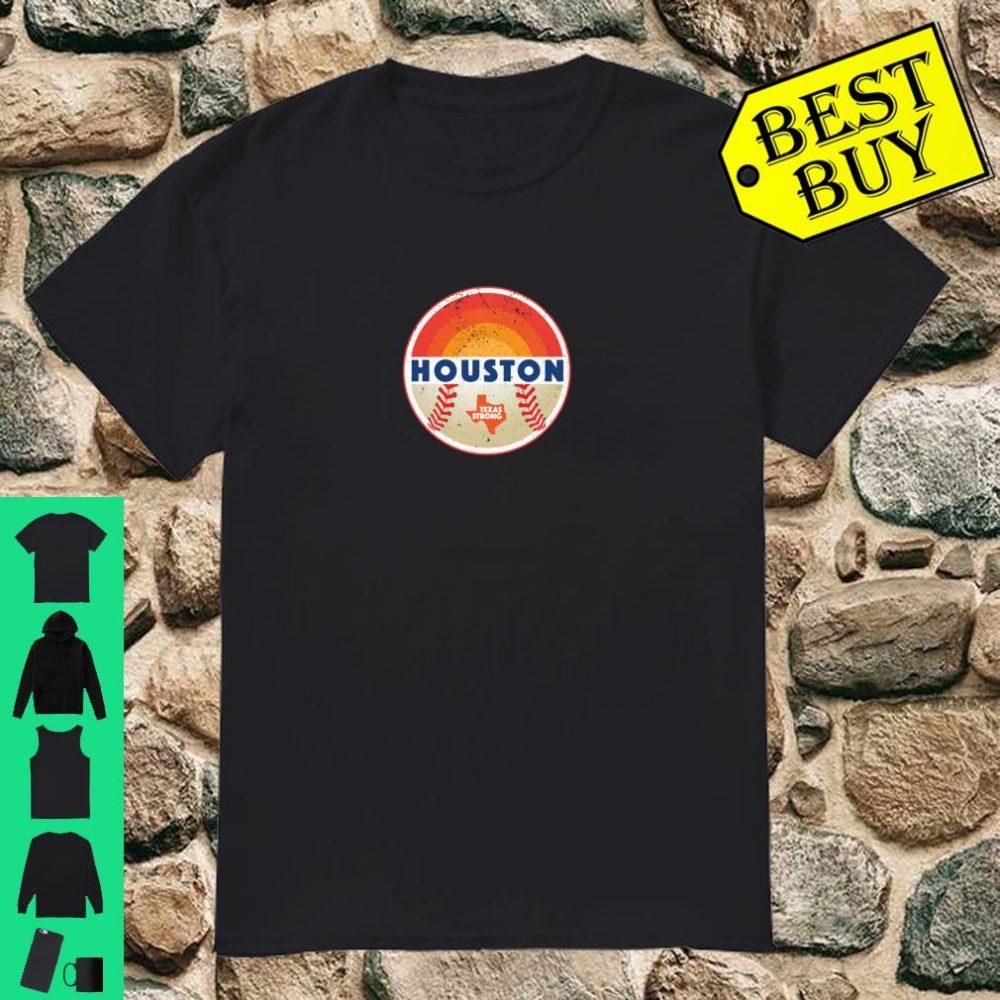 Vintage Retro Houston Texas Strong Baseball Shirt